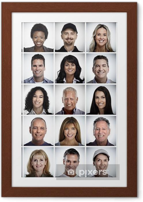 Poster in Cornice Set di volto sorridente persone. - Persone