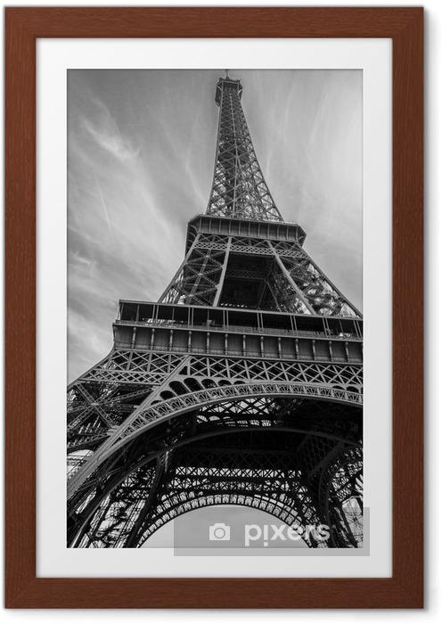 Plakát v rámu Eiffelova věž - Stavby a architektura