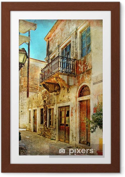 Poster en cadre Picturales anciennes rues de la Grèce -