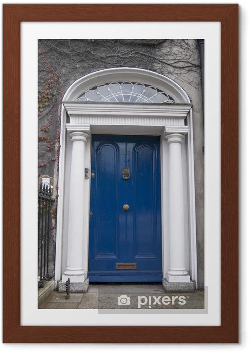 Plakat w ramie Niebieskie drzwi - Życie