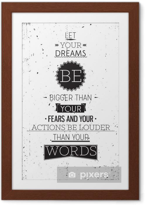 Poster i Ram Grunge retrostil motivational affisch med typografi - Stilar