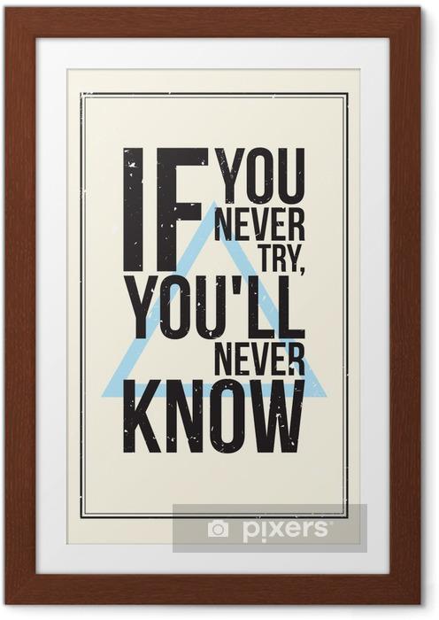 Poster en cadre Affiche de motivation de Inspiration. Style grunge - Pour les adolescents