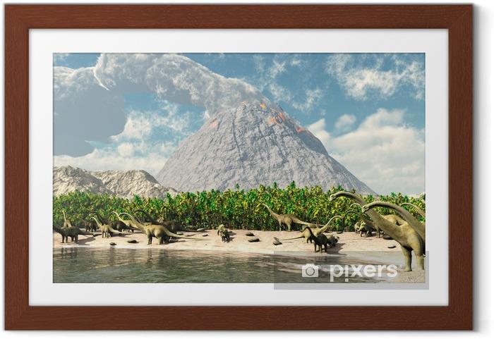 Ingelijste Poster Dinosaurs - Thema's