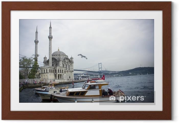 Ingelijste Poster Istanbul- Ortakoy - Azië