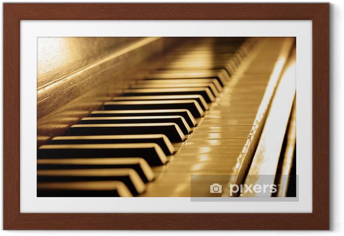 Plakat w ramie Sepia Piano Keys - Muzyka