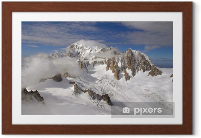 Plakat w ramie Mont Blanc - Góry