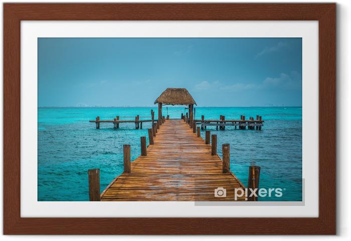 Gerahmtes Poster Karibik Pier - Themen