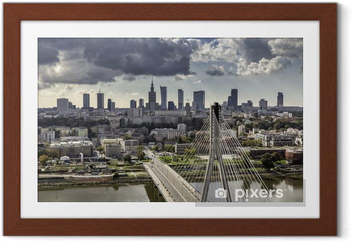 Poster en cadre Varsovie horizon derrière le pont - Thèmes