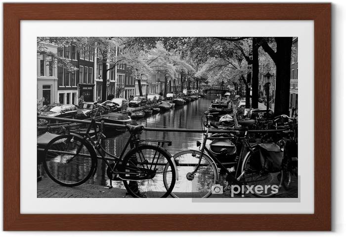 Plakat w ramie Bloemgracht d'Amsterdam - Rowery
