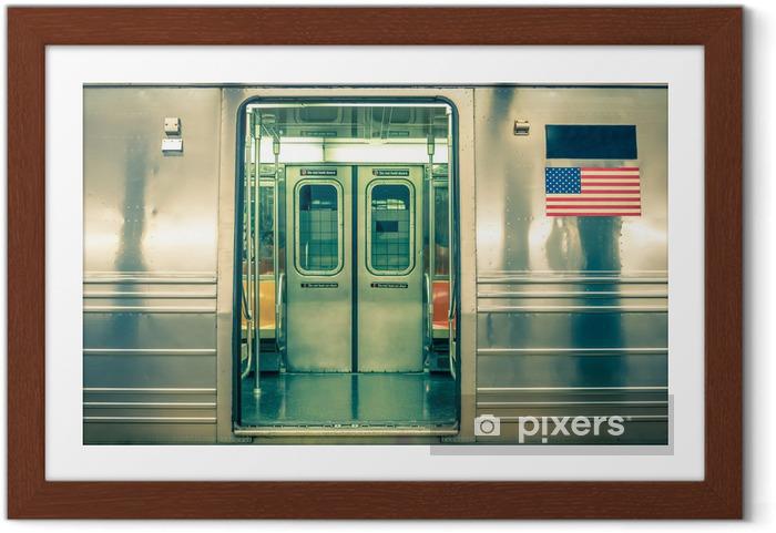 Poster i Ram Generic tunnelbana - New York CIty - Amerikanska städer
