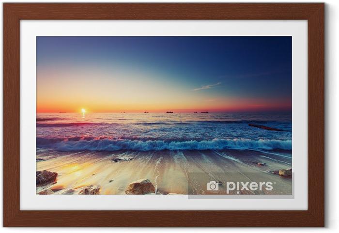 Plakat w ramie Wschód słońca nad morzem - Tematy