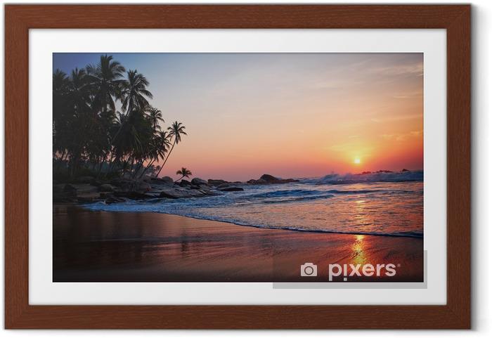 Ingelijste Poster Tropisch beach - Thema's