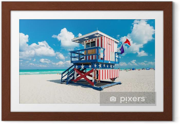 Poster i Ram Lifeguard Hut i South Beach-Miami - Amerika