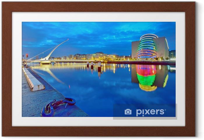 Plakat w ramie Samuel Beckett Bridge w Dublinie - Tematy