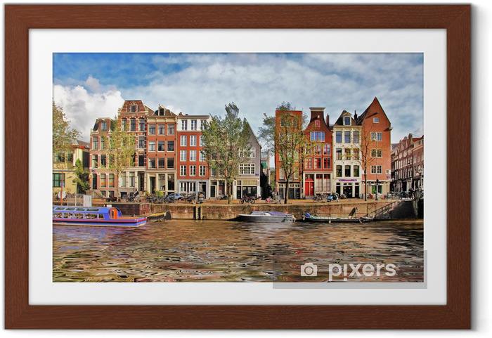 Smukke Amsterdam kanaler Indrammet plakat - Europæiske Byer