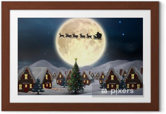 Poster en cadre Image composite de village noël mignon - Noël