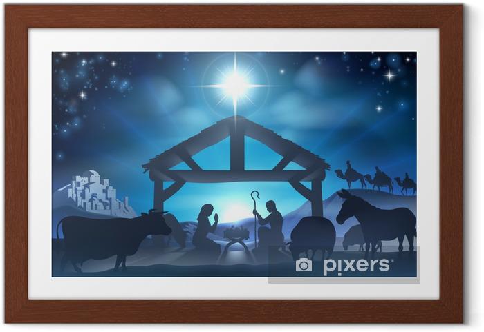 Poster en cadre Noël nativité scene - Noël