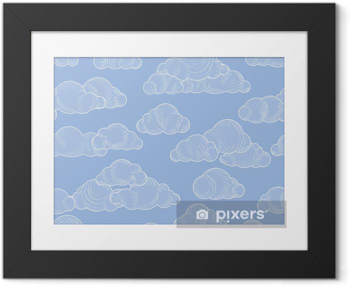 Ingelijste Poster Wolkenpatroon. bewolkte hemel naadloze backround - Landschappen
