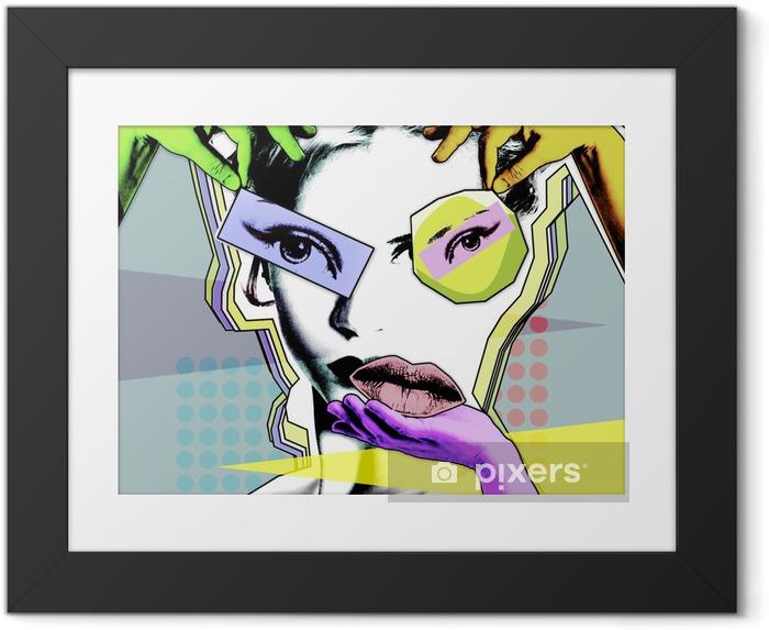 Póster Enmarcado Belleza femenina y cirugía plástica. cartel retro en el estilo del arte pop .. - Estilo de vida
