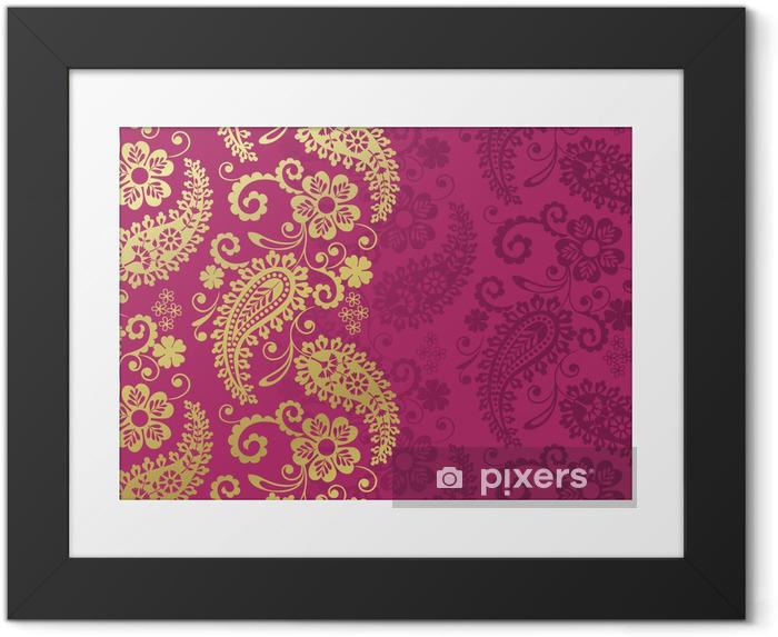 Poster en cadre Paisley motif floral, textile, Rajasthan, Inde royale - Styles
