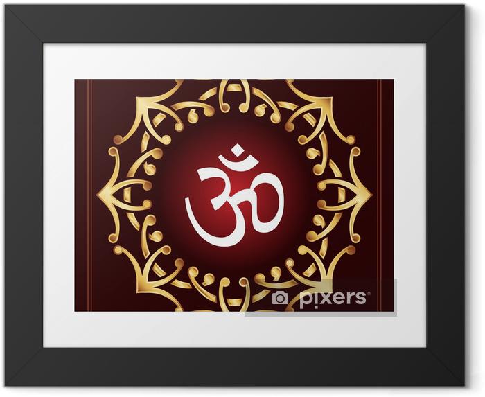 Poster en cadre Aum - Religion
