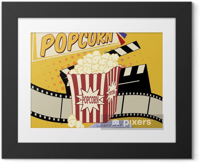 Poster i Ram Popcorn affisch - Teman