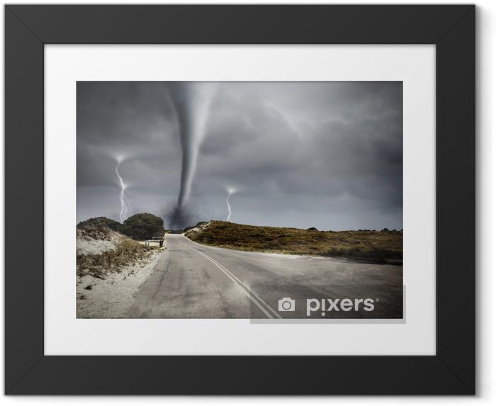 Plakat w ramie Tornado na drodze - Tematy