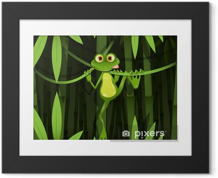 Ingelijste Poster Kikker in een jungle - Kikkers