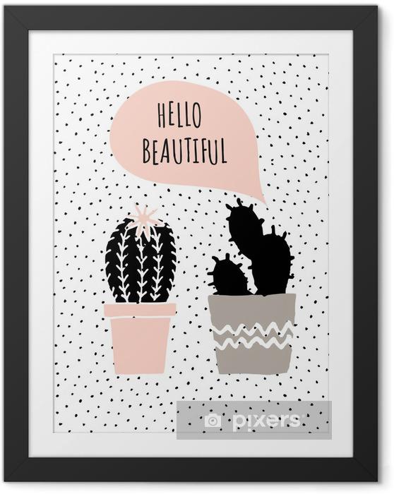 Poster i Ram Valentine's Day Card - Gratulationskort