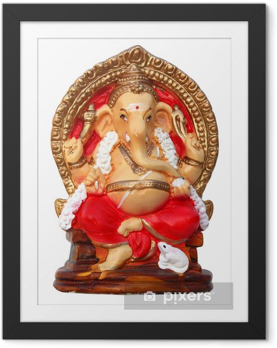 Plakat w ramie Inde - Ganesha - Ganesh (słoń Dieu) - Azja
