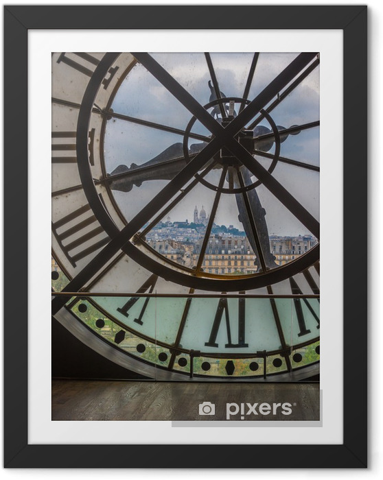 Plakat w ramie Zegar w Muzeum d'Orsay, Paryż - Zegary