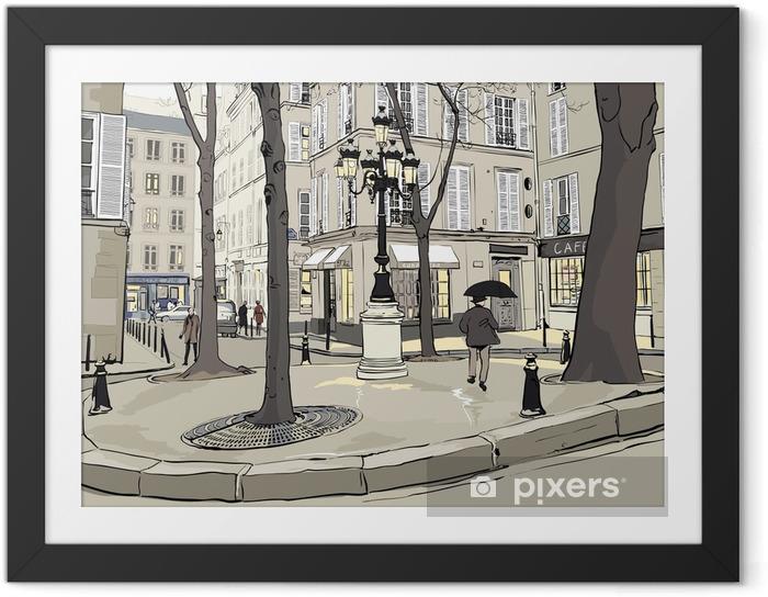 Poster en cadre Furstemberg carré à paris - Villes