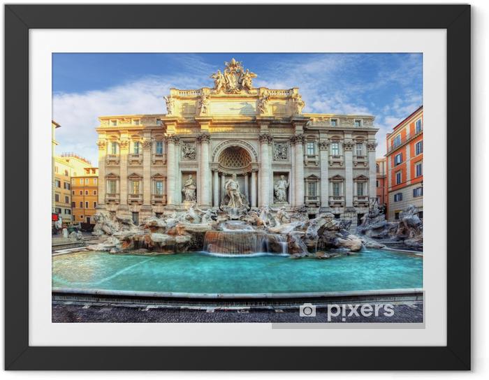 Poster en cadre Fontaine de Trevi. Rome, Italie - Thèmes