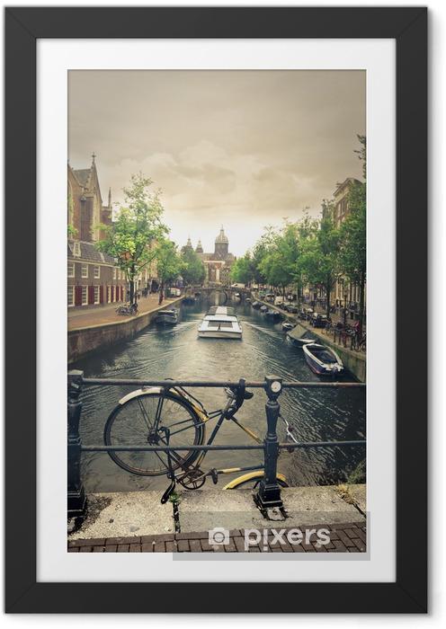 Floden i amsterdam Indrammet plakat -