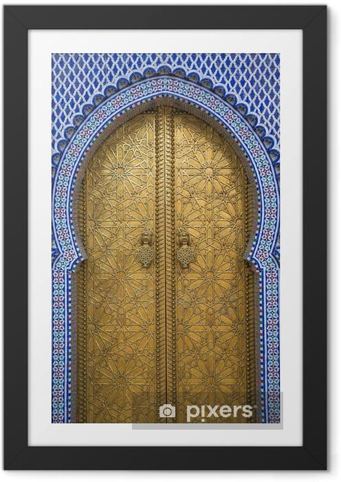 Çerçeveli Poster Fez, Fas kraliyet sarayı -