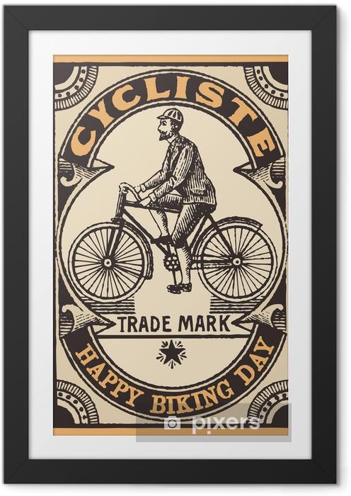 Plakát v rámu Le cycliste - Na cestě