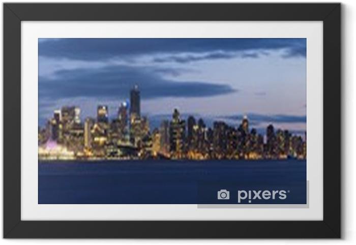 Poster en cadre Plan large panoramique ultra de Vancouver, Canada - Paysages urbains