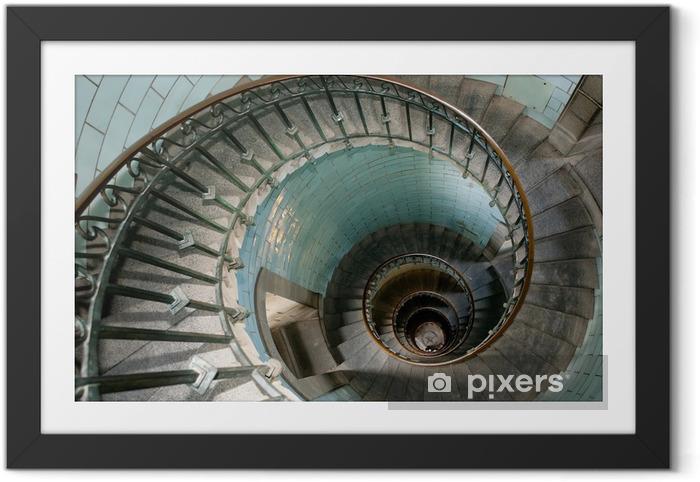 Poster en cadre Escargot phare escalier - Thèmes
