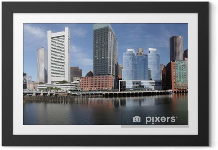 Ingelijste Poster Boston horizon havenpanorama - Amerika