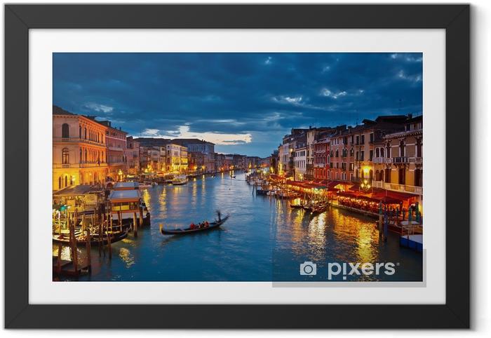Poster en cadre Grand Canal pendant la nuit, Venise -