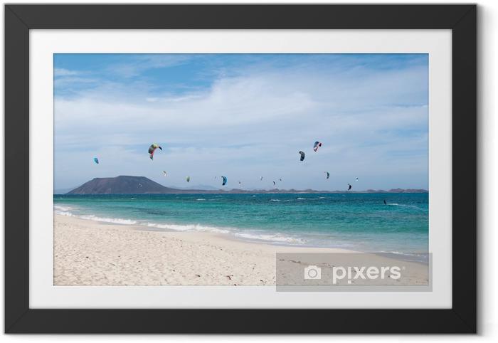 Ingelijste Poster Kite surfen - Watersporten
