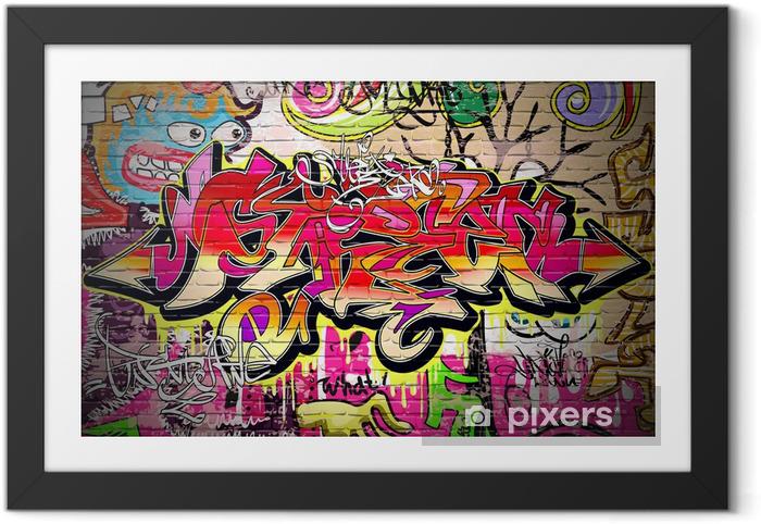 Ingelijste Poster Graffiti Art Vector Achtergrond - Thema's