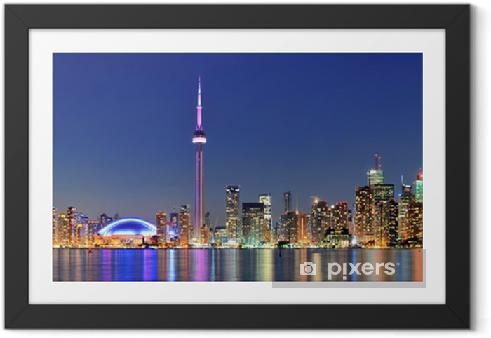 Póster com Moldura Toronto cityscape - América