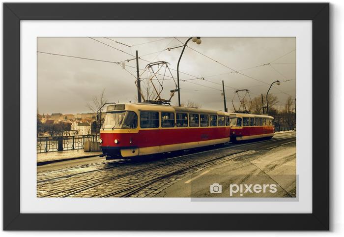 Plakat w ramie Tramwajowy w Pradze - Praga