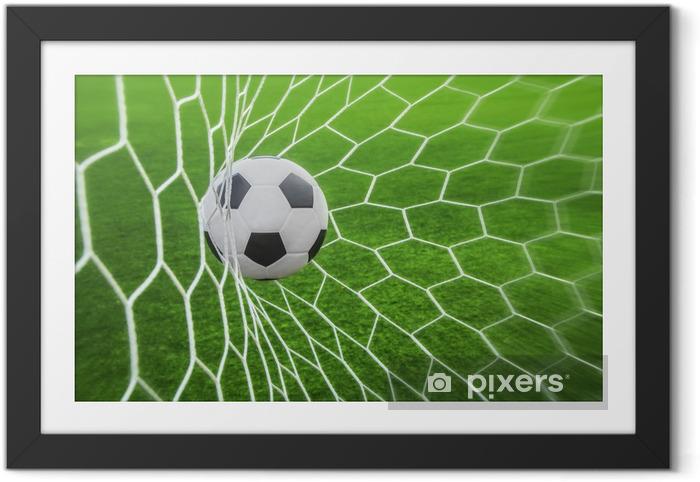 Plakat w ramie Piłka w bramce -