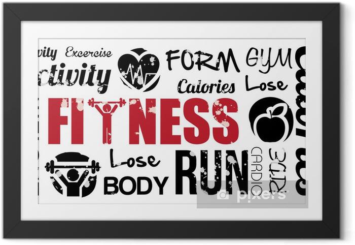 Ingelijste Poster Fitness - Bestemmingen