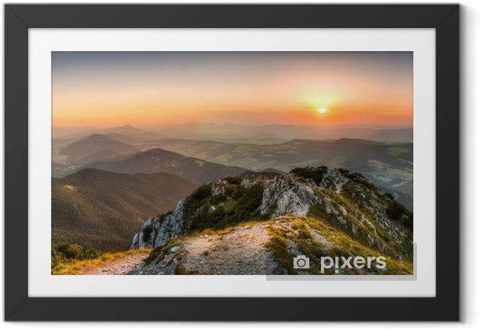 sunset landscape Framed Poster - Themes