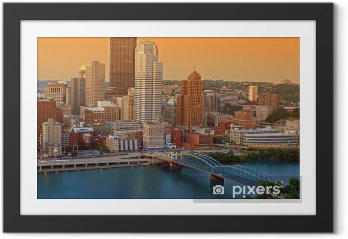 Plakat w ramie Centrum Pittsburgh - Sytuacje biznesowe