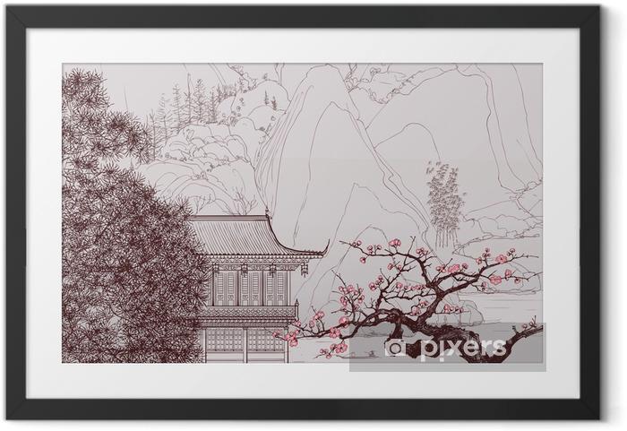 Póster com Moldura Chinese landscape - Estilos