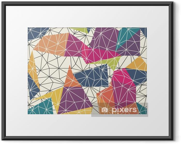 Poster in Cornice Wireframe superficie astratta Seamless Pattern - Risorse Grafiche
